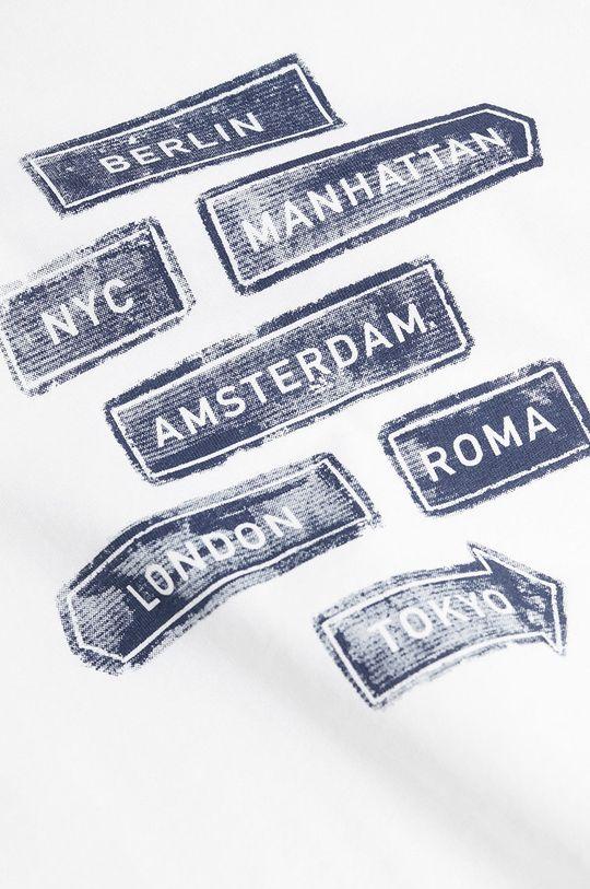 Mango Kids - T-shirt dziecięcy CITIES8 biały