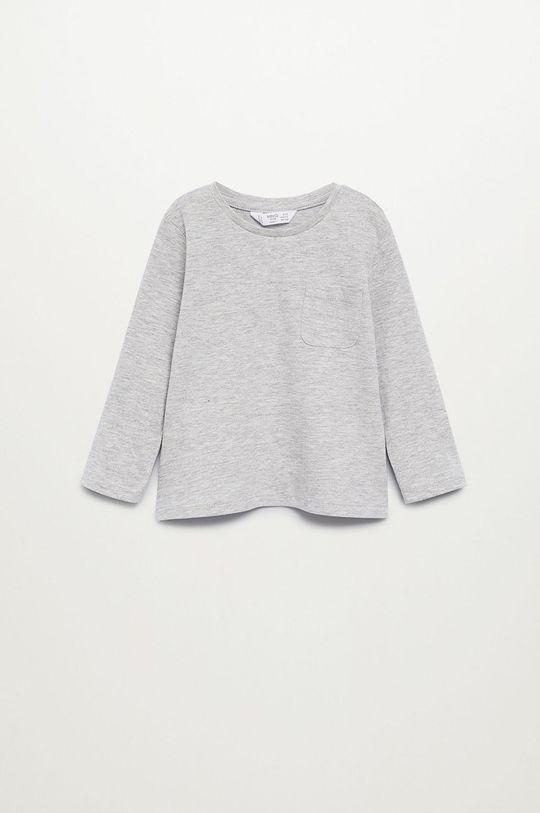 sivá Mango Kids - Detské tričko s dlhým rukávom MARCOS8 Chlapčenský