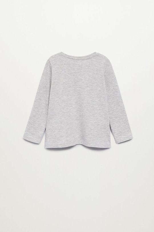 Mango Kids - Detské tričko s dlhým rukávom MARCOS8 sivá