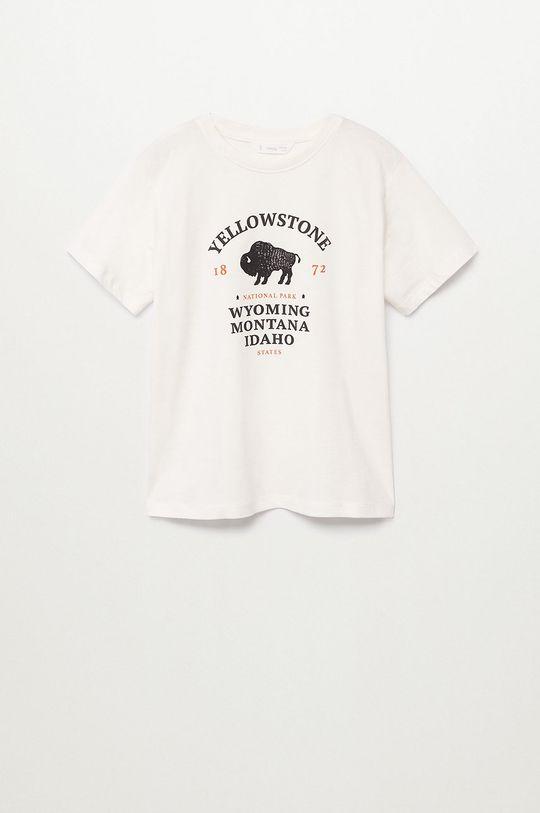 biela Mango Kids - Detské tričko YELLOW