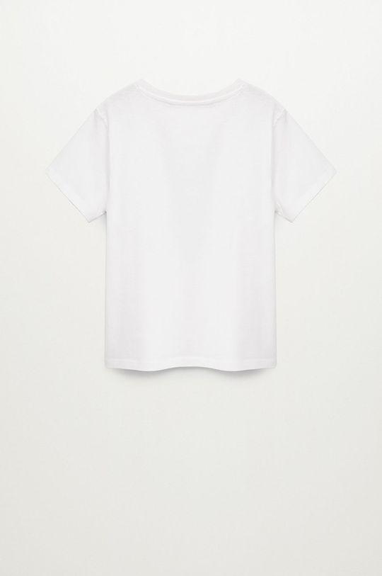 Mango Kids - T-shirt dziecięcy Sequin 110-152 cm biały