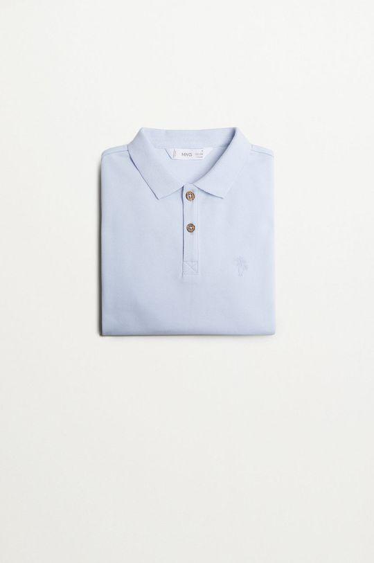 Mango Kids - Detské polo tričko Polo 110-164 cm bledomodrá