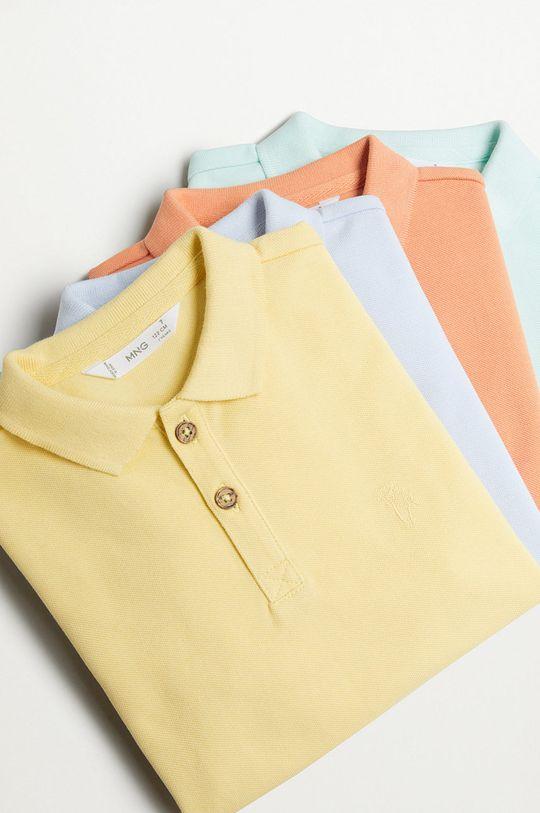 Mango Kids - Polo dziecięce Polo 110-164 cm żółty