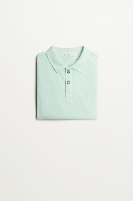 Mango Kids - Detské polo tričko Polo 110-164 cm zelená