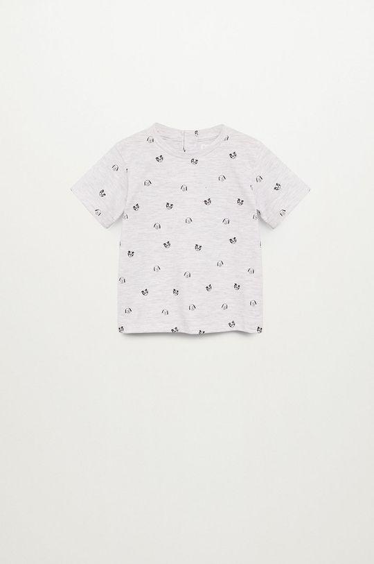 světle šedá Mango Kids - Dětské tričko PIERO Chlapecký