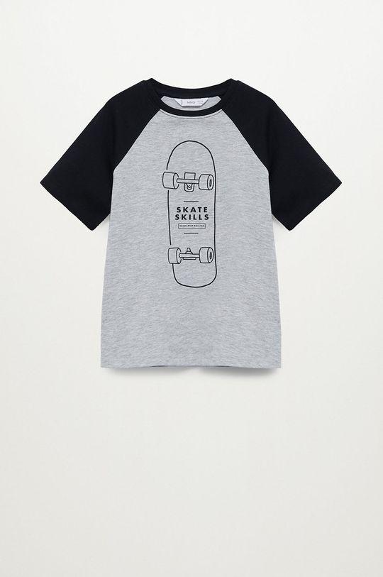 šedá Mango Kids - Dětské tričko SKILLS Chlapecký