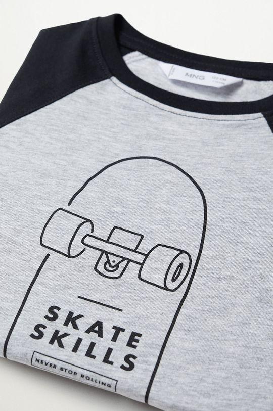 Mango Kids - Dětské tričko SKILLS šedá