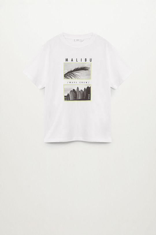 biela Mango Kids - Detské tričko SURF2 Chlapčenský