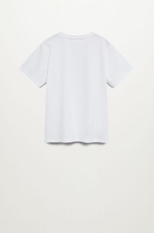Mango Kids - T-shirt dziecięcy FUTURE biały