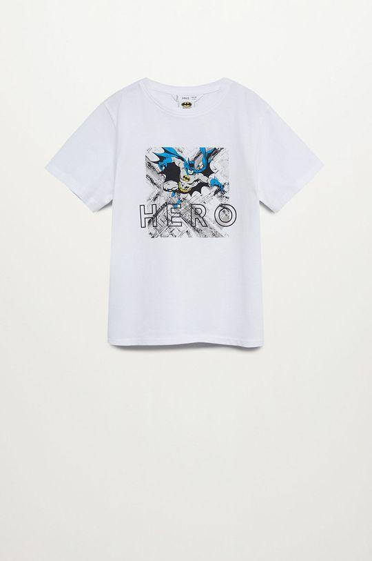 biały Mango Kids - T-shirt dziecięcy HERO Chłopięcy
