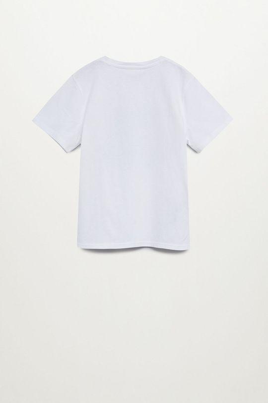 Mango Kids - T-shirt dziecięcy HERO biały
