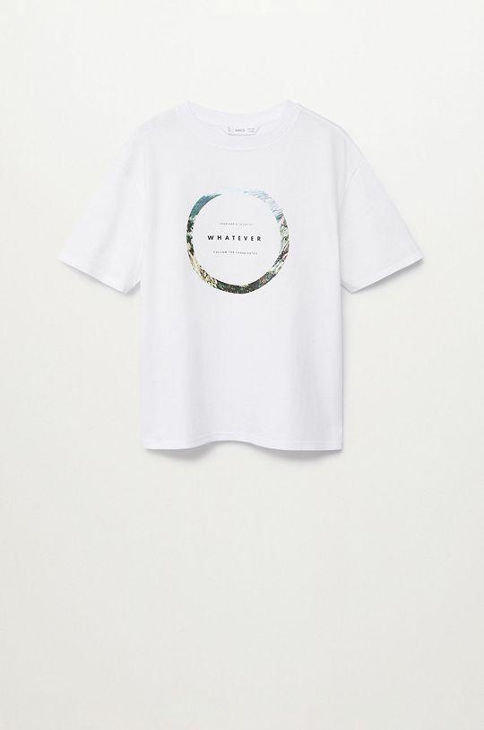 biały Mango Kids - T-shirt dziecięcy Whatever 110-164 cm Chłopięcy