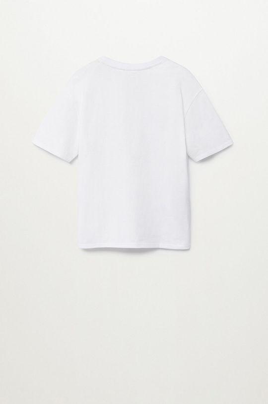 Mango Kids - T-shirt dziecięcy Whatever 110-164 cm biały