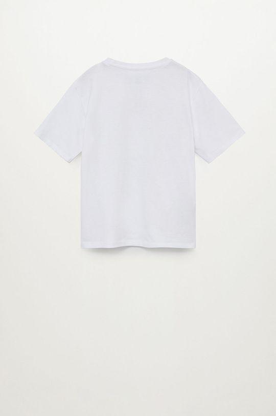 biały Mango Kids - T-shirt dziecięcy Smiley 110-164 cm