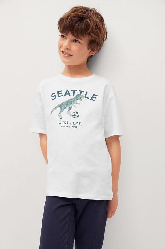 biały Mango Kids - T-shirt dziecięcy PLAYERS Chłopięcy