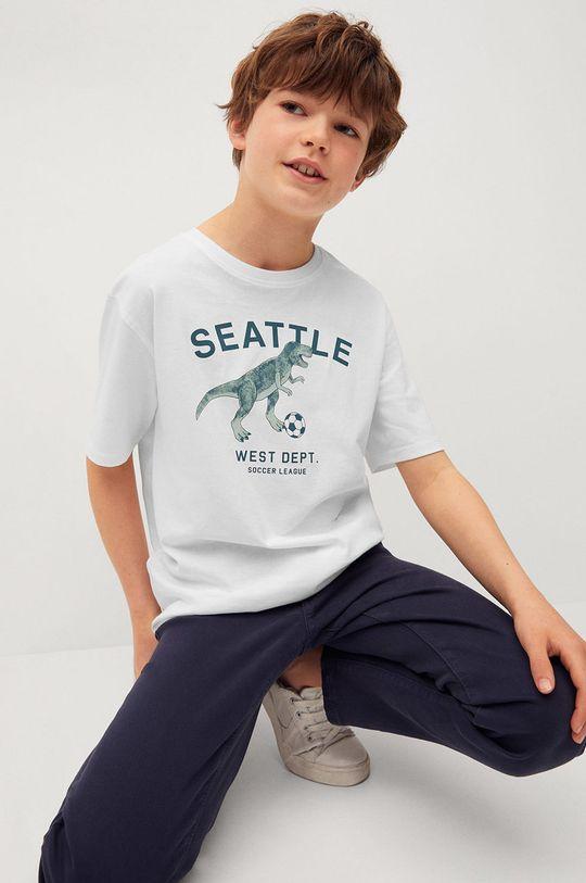 Mango Kids - T-shirt dziecięcy PLAYERS biały