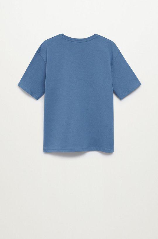Mango Kids - T-shirt dziecięcy PLAYERS niebieski