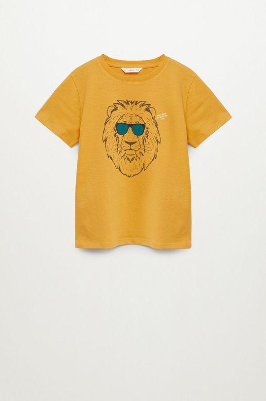 jasny żółty Mango Kids - T-shirt dziecięcy LEON Chłopięcy