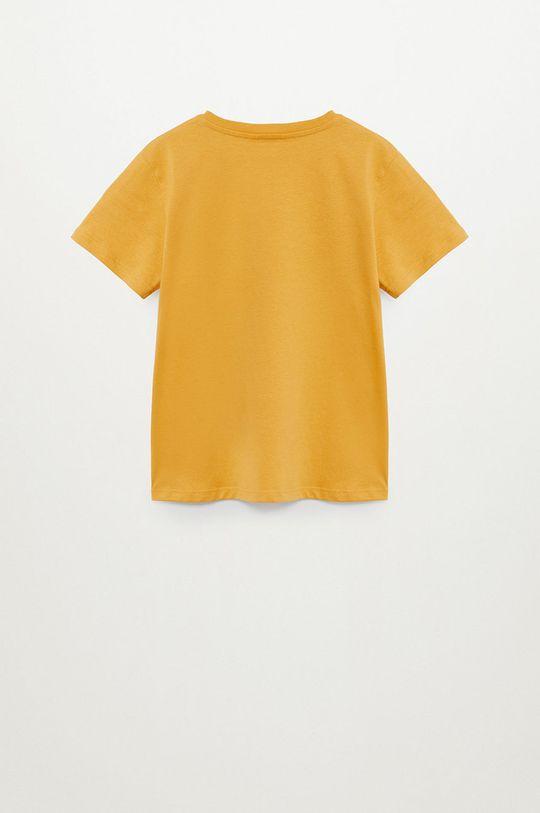 Mango Kids - T-shirt dziecięcy LEON jasny żółty