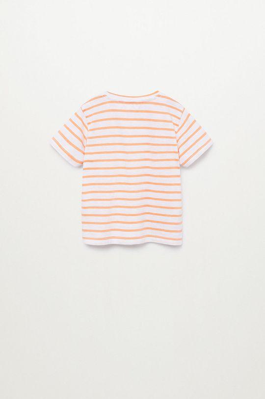 Mango Kids - T-shirt dziecięcy Pani8 80-104 cm jasny pomarańczowy