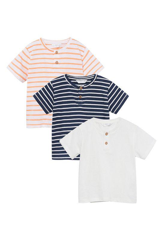 granatowy Mango Kids - T-shirt dziecięcy Pani8p-I 80-104 cm (3-pack) Chłopięcy