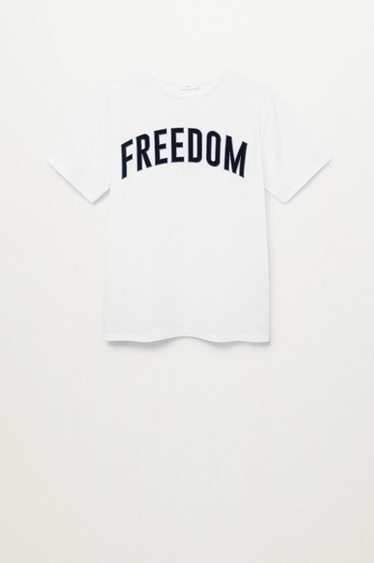biały Mango Kids - T-shirt dziecięcy FREEDOMT Chłopięcy