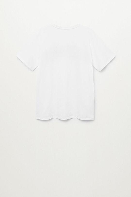 Mango Kids - T-shirt dziecięcy FREEDOMT biały