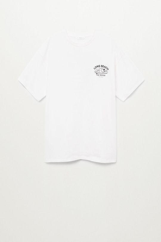 biały Mango Kids - T-shirt dziecięcy Longt Chłopięcy