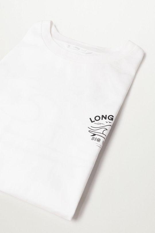 Mango Kids - T-shirt dziecięcy Longt 100 % Bawełna