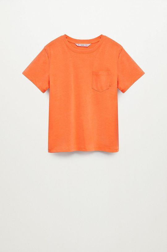 pomarańczowy Mango Kids - T-shirt dziecięcy Brad 110-164 cm Chłopięcy