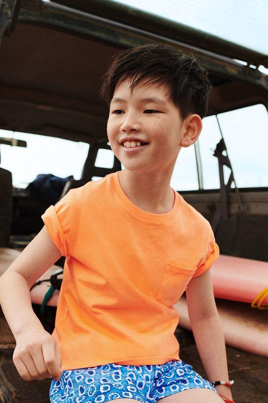 Mango Kids - T-shirt dziecięcy Brad 110-164 cm pomarańczowy