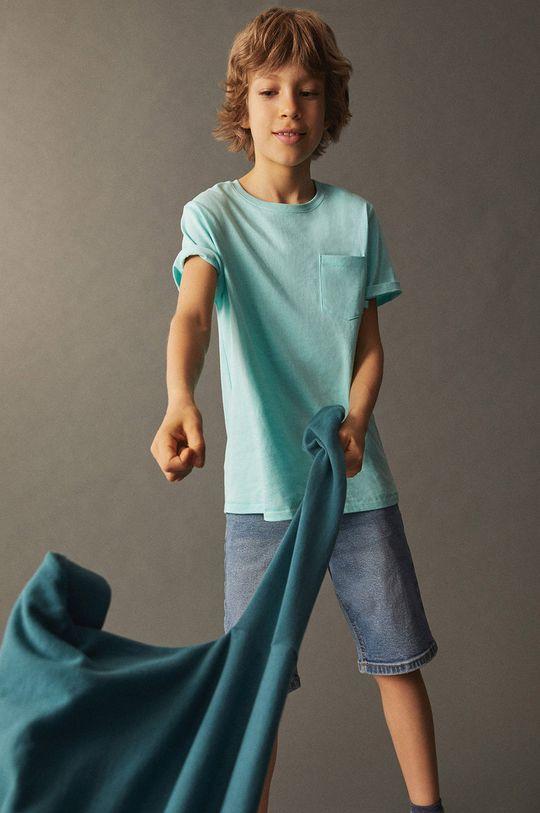 tyrkysová Mango Kids - Detské tričko Brad 110-164 cm Chlapčenský