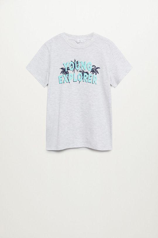 svetlosivá Mango Kids - Detské tričko Young 110-164 cm Chlapčenský