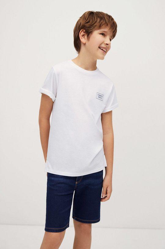 biały Mango Kids - T-shirt dziecięcy Summer 110-164 cm Chłopięcy