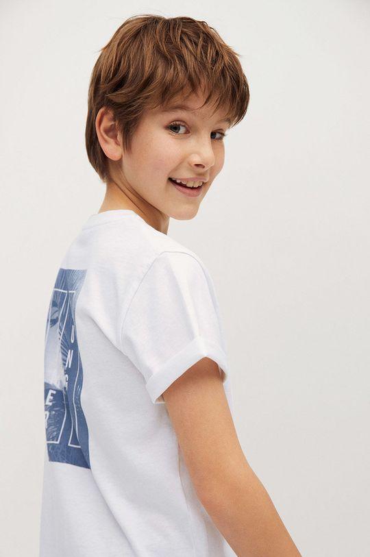 Mango Kids - T-shirt dziecięcy Summer 110-164 cm biały