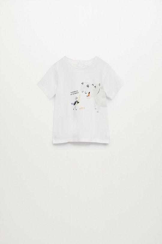 biały Mango Kids - T-shirt dziecięcy Hipo 80-104 cm Chłopięcy