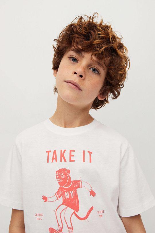 biały Mango Kids - T-shirt dziecięcy Easy 110-164 cm Chłopięcy