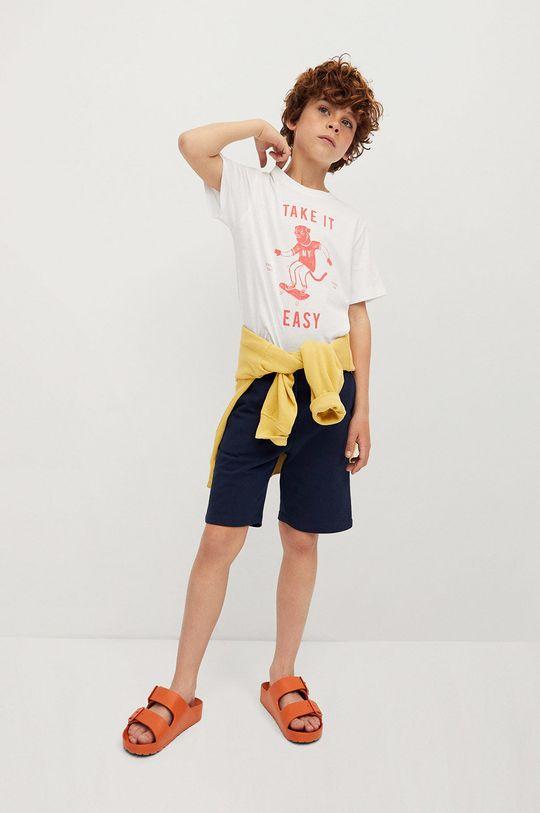 Mango Kids - T-shirt dziecięcy Easy 110-164 cm biały