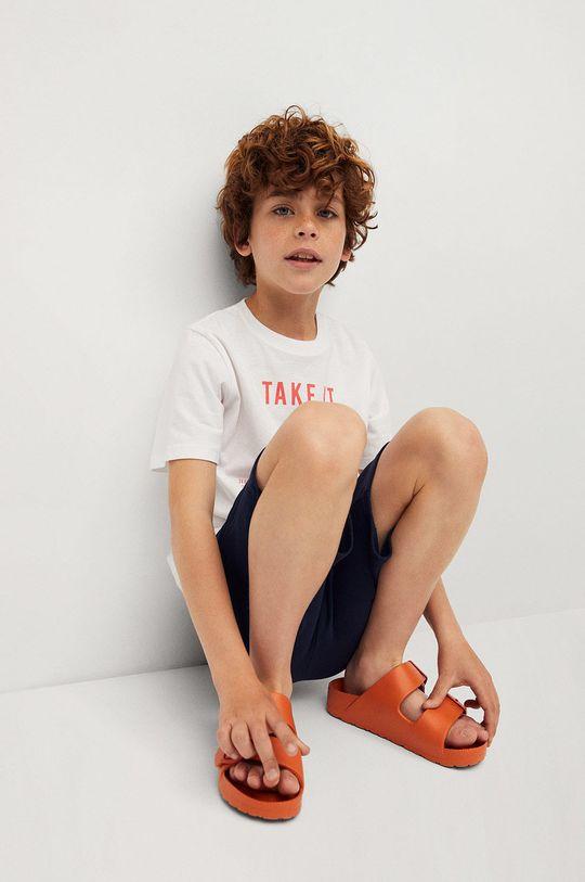 Mango Kids - T-shirt dziecięcy Easy 110-164 cm 100 % Bawełna
