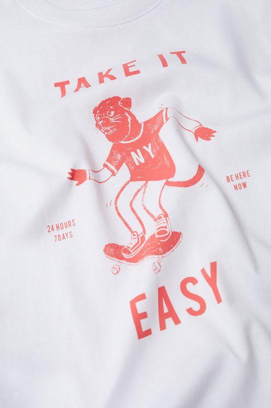 biały Mango Kids - T-shirt dziecięcy Easy 110-164 cm