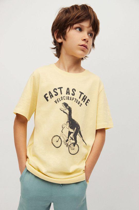 žltá Mango Kids - Detské tričko Easy 110-164 cm Chlapčenský