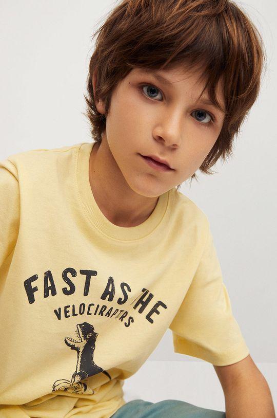 Mango Kids - Detské tričko Easy 110-164 cm žltá