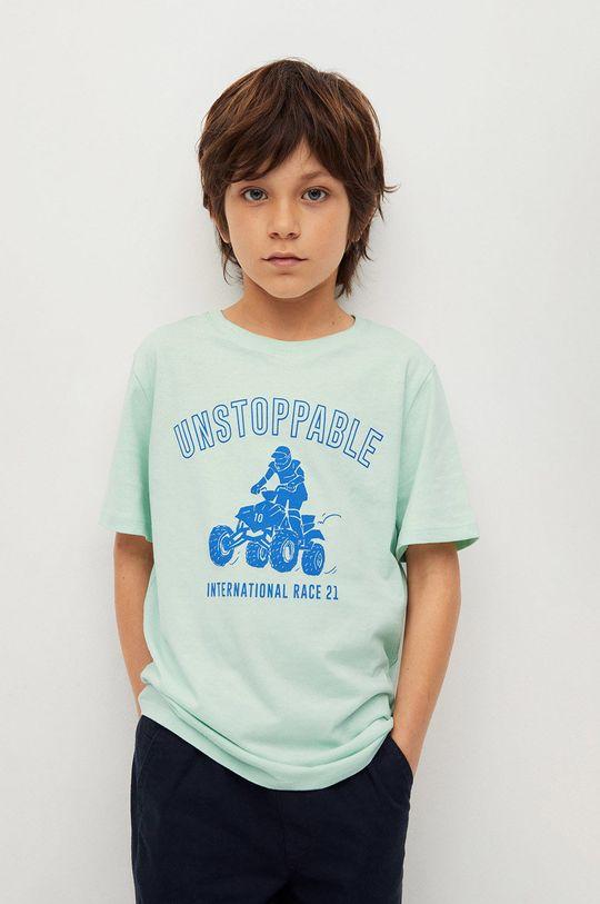 zelená Mango Kids - Detské tričko Easy 110-164 cm Chlapčenský