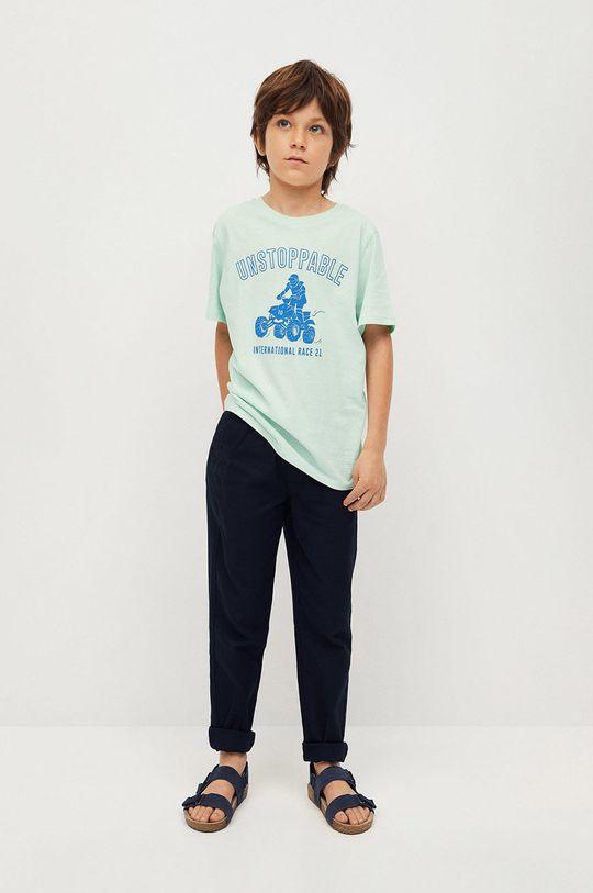 Mango Kids - Detské tričko Easy 110-164 cm zelená