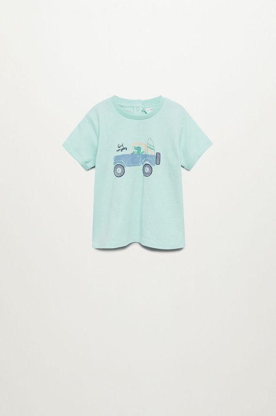zelená Mango Kids - Dětské tričko Beach 80-104 cm Chlapecký