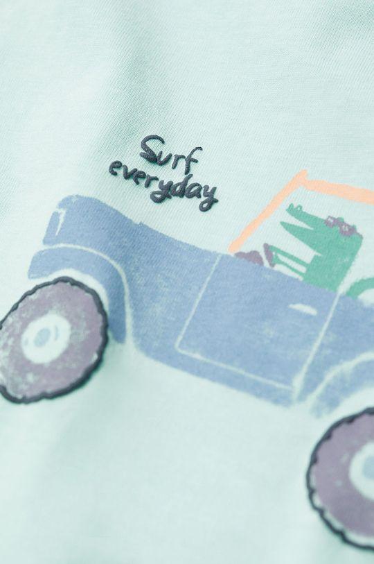 Mango Kids - Dětské tričko Beach 80-104 cm zelená