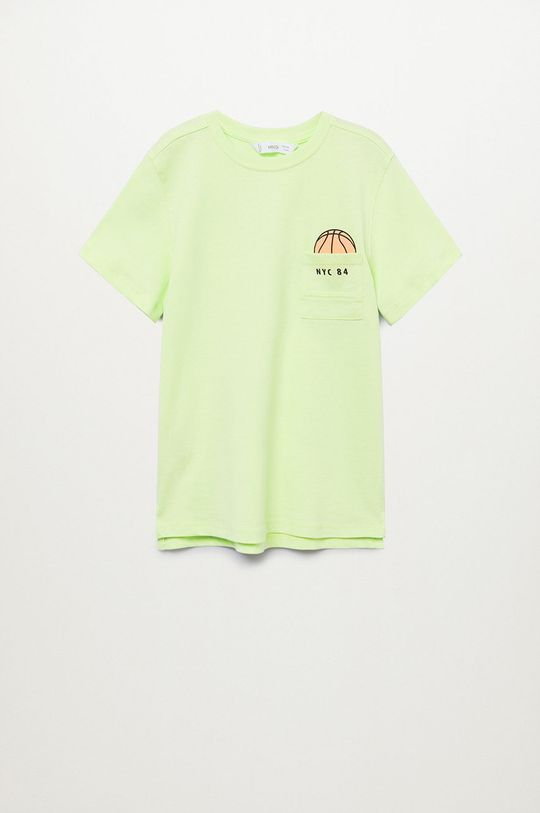 žltá Mango Kids - Detské tričko Sport 110-164 cm Chlapčenský