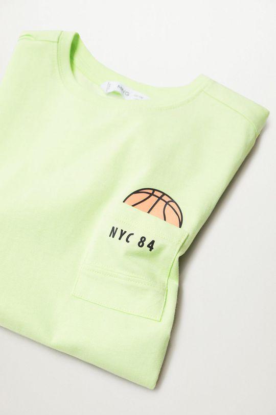 Mango Kids - Detské tričko Sport 110-164 cm žltá