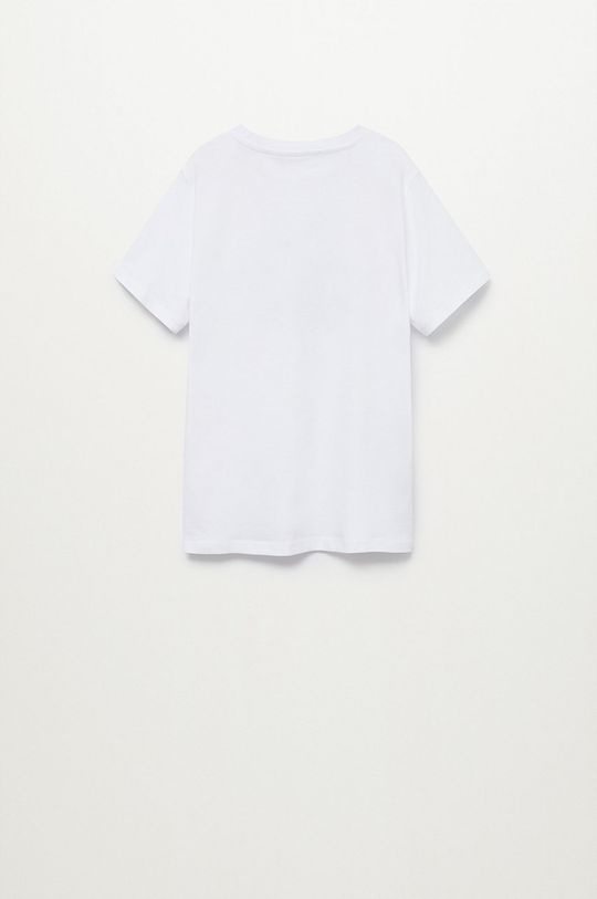 Mango Kids - T-shirt dziecięcy Logo 110-164 cm Chłopięcy