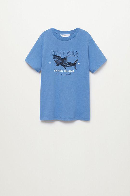 modrá Mango Kids - Detské tričko Logo 110-164 cm Chlapčenský